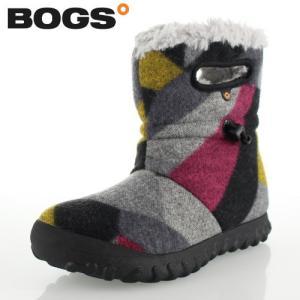 ボグス BOGS 72106 B-Moc Wool グレー DK GRAY GOLD レディース ブーツ 防水 ウォータープルーフ ボア 保温 あったか セール|washington