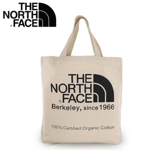 ノースフェイス オーガニックコットントート  THE NORTH FACE 81616-01 トートバッグ 通学 通勤 ナチュラル/ブラック エコバック|washington