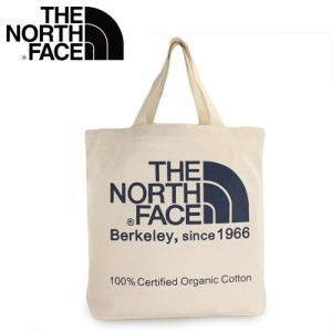 ザ ノースフェイス オーガニックコットントート  THE NORTH FACE 81616-BU トートバッグ 通学 通勤 ナチュラル/エステートブルー|washington