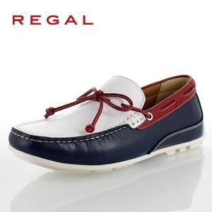 リーガル 靴 メンズ REGAL 55PRAF ホワイト トリコロール カジュアルシューズ リボン スリッポン スクエアトゥ 2E 本革 紳士靴 特典B|washington