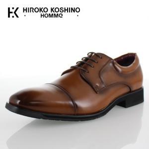 ヒロコ コシノ オム HIROKO KOSHINO HOMME HK4551Z ブラウン メンズ 靴 ビジネスシューズ ストレートチップ 外羽根式 防水 3E|washington