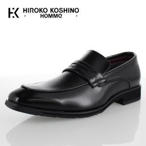 ヒロコ コシノ オム HIROKO KOSHINO HOMME HK4552Z ブラック メンズ 靴 ビジネスシューズ ローファー スリッポン 防水 3E|washington