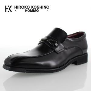 ヒロコ コシノ オム HIROKO KOSHINO HOMME HK4557Z ブラック メンズ 靴 ビジネスシューズ  スリッポン ビット ローファー 防水 3E|washington