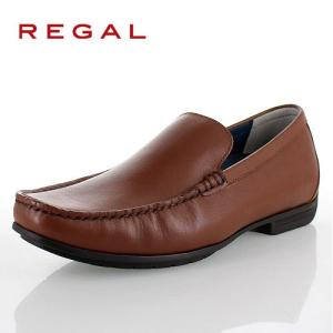 リーガル 靴 メンズ REGAL 56HRAF ブラウン カジュアルシューズ ヴァンプ スリッポン ...