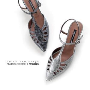 ラボキゴシ ワークス RABOKIGOSHI works パンプス 11983 Tストラップ ローヒール サンダル 本革 靴 レディース セール|washington