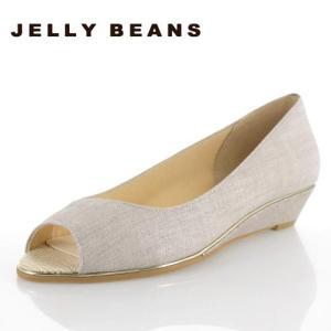 JELLY BEANS ジェリービーンズ 靴 9826 オープントゥ パンプス ローヒール ウェッジソール グレー レディース セール|washington