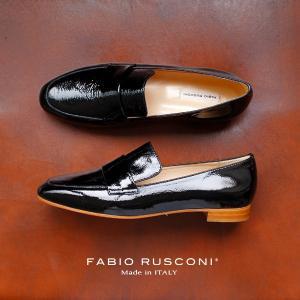 ファビオルスコーニ FABIO RUSCONI シューズ 靴 81611 ローファー エナメル シューズ ブラック 黒 クロ 本革|washington