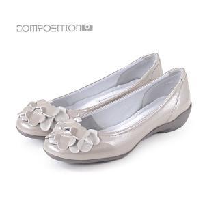 コンポジション9 靴 2364 コンフォートシューズ レディース パンプス バレエシューズ コンポジションナイン グレーエナメル COMPOSITION9 セール|washington