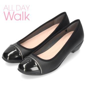 ALL DAY Walk オールデイウォーク 靴 680 パンプス 2E 幅広 ベネトン アキレス 068 黒 ブラック レディース スクエアトゥ 撥水加工|washington