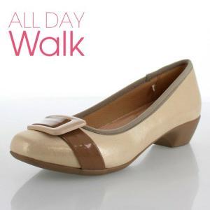 ALL DAY Walk オールデイウォーク 靴 2000 パンプス 2E 幅広 ベネトン アキレス 200 ゴールド ベージュ レディース スクエアトゥ 撥水加工 セール|washington