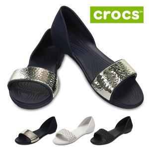crocs クロックス リナ エンベリッシュド ドルセー 204361 レディース パンプス サンダル 靴 ブラック ネイビー ホワイト セール|washington