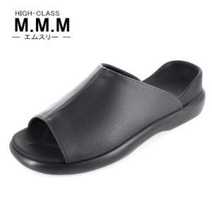 サンダル メンズ M.M.M. エムスリー コンフォートサンダル ソフトインソール 92 ブラック 3E 室内履き 紳士 靴 日本製|washington