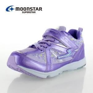 ムーンスター スーパースター SS J807 パープル   ガールズ 女の子 運動靴 子供靴 バネのチカラ キッズ ジュニア スニーカー 2E 軽量 セール|washington