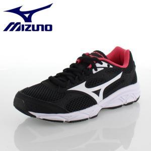ミズノ MIZUNO マキシマイザー 20 ジュニア MAXIMIZER 20 Jr K1GC182016 ブラック×ホワイト×ピンク ジュニア ランニング スニーカー|washington