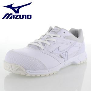 ミズノ 安全靴 MIZUNO オールマイティCS 紐タイプ C1GA171001 ホワイト ワーキング スニーカー 作業靴 レディース 3E|washington