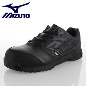 ミズノ 安全靴 MIZUNO オールマイティCS 紐タイプ C1GA171009 ブラック ワーキング スニーカー 作業靴 レディース 3E|washington