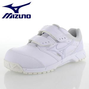 ミズノ 安全靴 MIZUNO オールマイティCS ベルトタイプ C1GA171101 ホワイト ワーキング スニーカー 作業靴 レディース 3E|washington