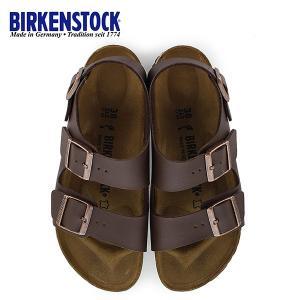 ビルケンシュトック BIRKENSTOCK ミラノ Milano 0034703 幅狭 レディース サンダル 靴 ダークブラウン バックベルト  国内正規品|washington