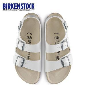 ビルケンシュトック BIRKENSTOCK ミラノ Milano 0034733 幅狭 レディース サンダル 靴 ホワイト バックベルト  国内正規品|washington