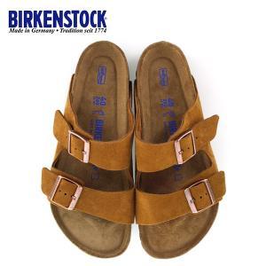 ビルケンシュトック BIRKENSTOCK アリゾナ BS ソフトフットベッド 1009526 幅広 メンズ サンダル 靴 ミンク ブラウン  国内正規品|washington