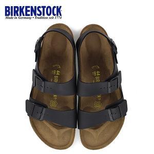 ビルケンシュトック BIRKENSTOCK ミラノ Milano 0034791 幅広 メンズ サンダル 靴 ブラック バックベルト  国内正規品|washington