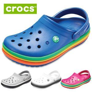 crocs クロックス クロックバンド レインボー バンド クロッグ 205212 レディース メンズ サンダル 靴 ブルー ピンク グレー ホワイト セール|washington