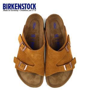 ビルケンシュトック BIRKENSTOCK チューリッヒ BS ソフトフットベッド 1009534 幅広 メンズ サンダル 靴 ミンク ブラウン  国内正規品|washington