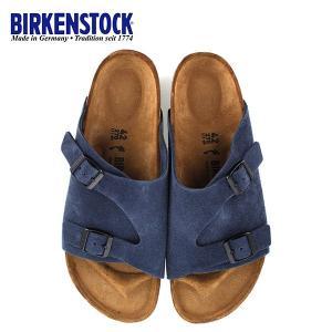ビルケンシュトック BIRKENSTOCK チューリッヒ Zurich BS 1010755 幅狭 レディース メンズ サンダル 靴 ブルー 国内正規品|washington