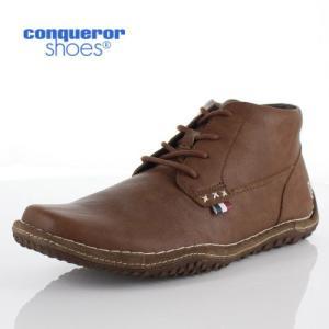 コンカラー シューズ クレスト メンズ スニーカー conqueror CREST 116 BROWN ブラウン 靴 washington