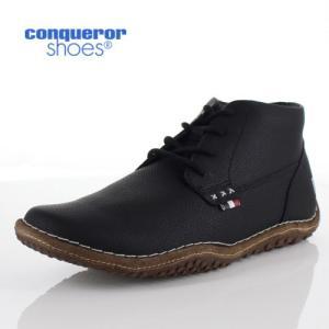 コンカラー シューズ クレスト メンズ スニーカー conqueror CREST 117 BLACK ブラック 靴 washington