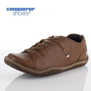 コンカラー シューズ モントレー メンズ スニーカー conqueror MONTEREY 125 BROWN ブラウン 外羽根 靴 washington