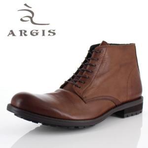 アルジス 靴 レザーブーツ メンズ 本革 プレーントゥ レースアップ ダークブラウン 62207 タンクソール ショートブーツ 革靴 日本製 セール|washington