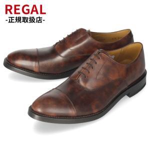リーガル REGAL 靴 メンズ ビジネスシューズ 01RRBG ダークブラウン ストレートチップ 内羽根式 紳士靴 日本製 本革 特典B|washington