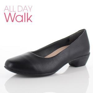 ALL DAY Walk オールデイウォーク 靴 ALD 0660 パンプス スクエアトゥ ビジネス フォーマル リクルート 2E 黒 ブラック レディース|washington