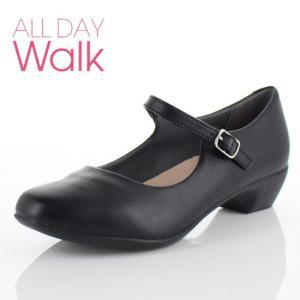 ALL DAY Walk オールデイウォーク 靴 ALD 0670 パンプス スクエアトゥ ストラップ フォーマル リクルート 2E 黒 ブラック レディース|washington