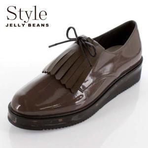 STYLE JELLY BEANS ジェリービーンズ 靴 908 シューズ 厚底 マニッシュ レースアップ 2way キルト べっ甲 ダークオーク  モカ レディース|washington