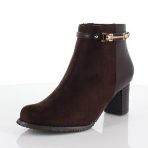 DUOMO SIENA デュオモシエナ 靴 1852 ブーツ ヒール ショートブーツ サイドジップ 防水 防滑 消臭 ダークブラウン レディース|washington