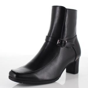FIELDTEX フィールドテックス 靴 KT-3130 ブーツ ヒール ショートブーツ サイドジップ 3E 防水 黒 ブラック レディース|washington