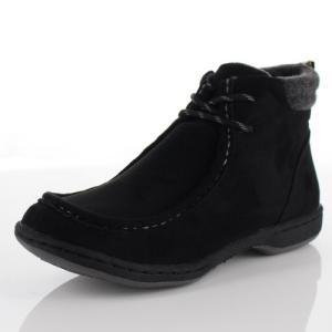 LOILO ロイロ 靴 703 ワラビーブーツ ブーツ 撥水 レースアップ ウインターブーツ 黒 ブラック レディース|washington