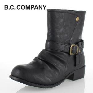B.C COMPANY ビーシーカンパニー 靴 11828 2way ショートブーツ 防水 吸湿 発熱 消臭 ウインターブーツ 黒 ブラック レディース|washington