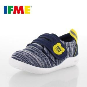 イフミー  IFME ベビー キッズ シューズ 22-8705 NAVY スニーカー 通園 通学 軽い 面ファスナー 機能性中敷き ツーステップソール 子供靴|washington