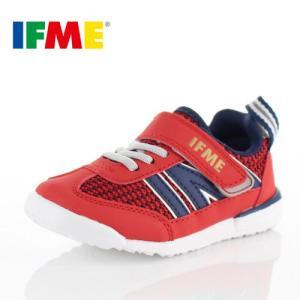 スニーカー イフミー キッズ IFME Light シューズ 22-8707 RED レッド スニーカー 子供靴 ベルクロ|washington