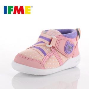 スニーカー イフミー ベビー IFME Light シューズ 22-8706 PINK ピンク スニーカー キッズ 子供靴 ベルト ベルクロ ドット|washington