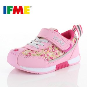 スニーカー イフミー キッズ IFME Basic シューズ 30-8712 PINK ピンク スニーカー 子供靴 ベルクロ|washington