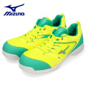 安全靴 ミズノ MIZUNO オールマイティVS 紐タイプ F1GA180345 メンズ 靴 イエロー シルバー グリーン ワーキング スニーカー 3E|washington