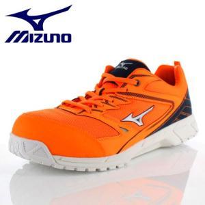 安全靴 ミズノ MIZUNO オールマイティVS 紐タイプ F1GA180354 メンズ 靴 オレンジ シルバー ネイビー ワーキング スニーカー 3E|washington