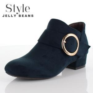 STYLE JELLY BEANS ジェリービーンズ 靴 1611 ブーツ ブーティ ショート ヒール バックル ベルト 緑 グリーン レディース セール washington