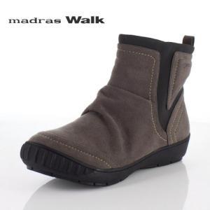 madrasWalk マドラスウォーク 靴 MWL2094 防水 ブーツ ショートブーツ ストレッチ素材 4E GORE-TEX  オーク ブラウン レディース セール|washington