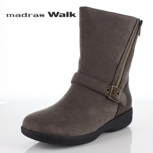 madrasWalk マドラスウォーク 靴 MWL2108 防水 ブーツ ショートブーツ ストレッチ素材 4E GORE-TEX オーク ブラウン レディース セール|washington