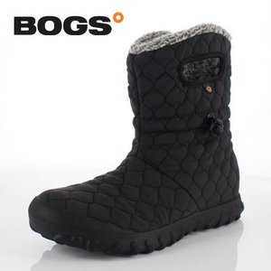 BOGS ボグス 靴 71952 B-MOC QUILTED PUFF ブーツ スノーブーツ ショートブーツ 防水 キルト ボア 黒 ブラック レディース セール|washington
